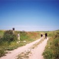 Pilgrims on the Camino de Santiago